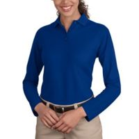 Ladies Long Sleeve Silk Touch™ Polo Thumbnail