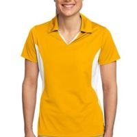 Ladies Side Blocked Micropique Sport Wick® Polo Thumbnail